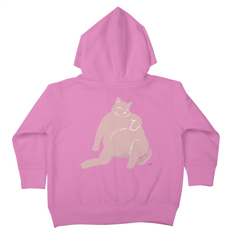 Fat Cat Kids Toddler Zip-Up Hoody by Designs by Billy Wan