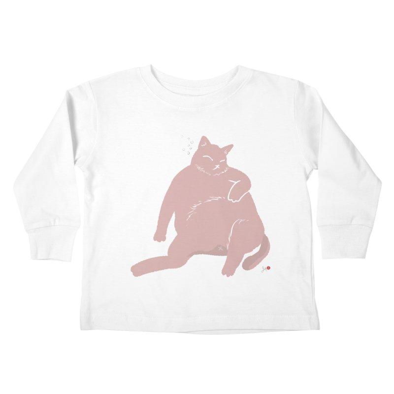 Fat Cat Kids Toddler Longsleeve T-Shirt by Designs by Billy Wan