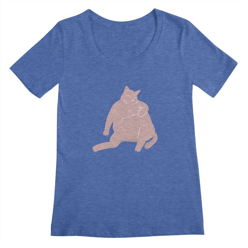 Fat Cat Women's Regular Scoop Neck by Designs by Billy Wan