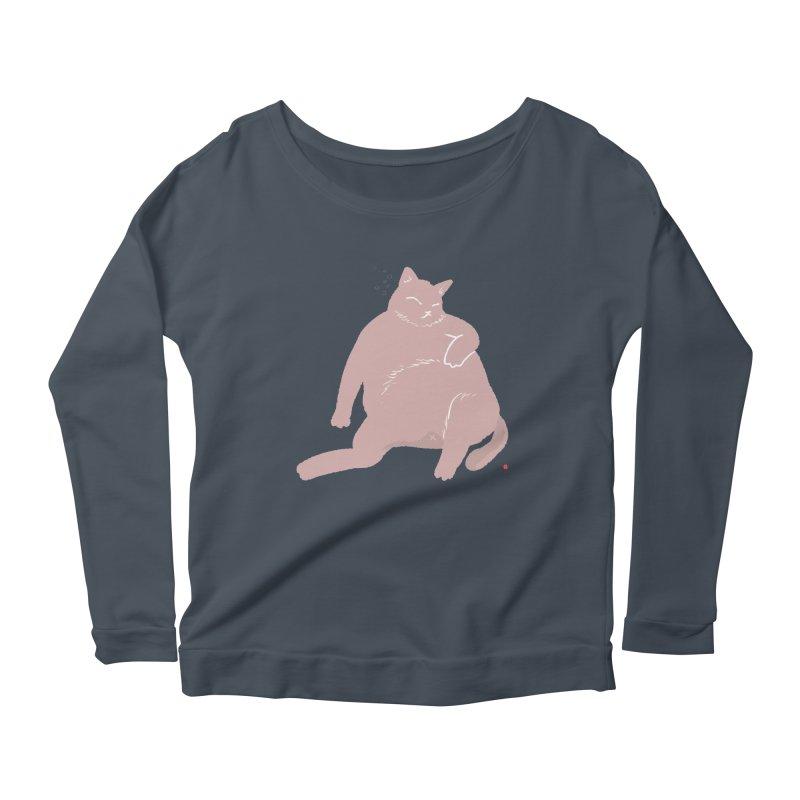 Fat Cat Women's Scoop Neck Longsleeve T-Shirt by Designs by Billy Wan