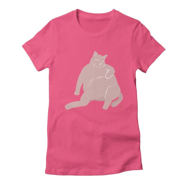 Fat Cat Women's Fitted T-Shirt by Designs by Billy Wan