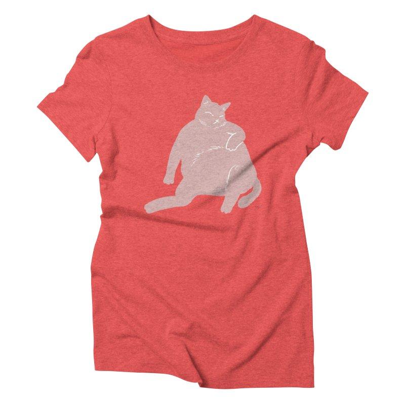 Fat Cat Women's Triblend T-Shirt by Designs by Billy Wan