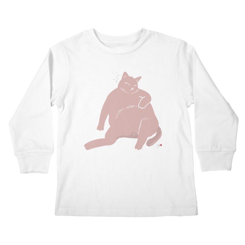 Fat Cat Kids Longsleeve T-Shirt by Designs by Billy Wan