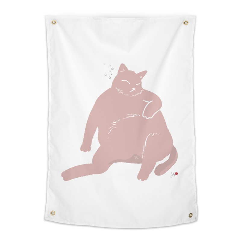 Fat Cat Home Tapestry by Designs by Billy Wan