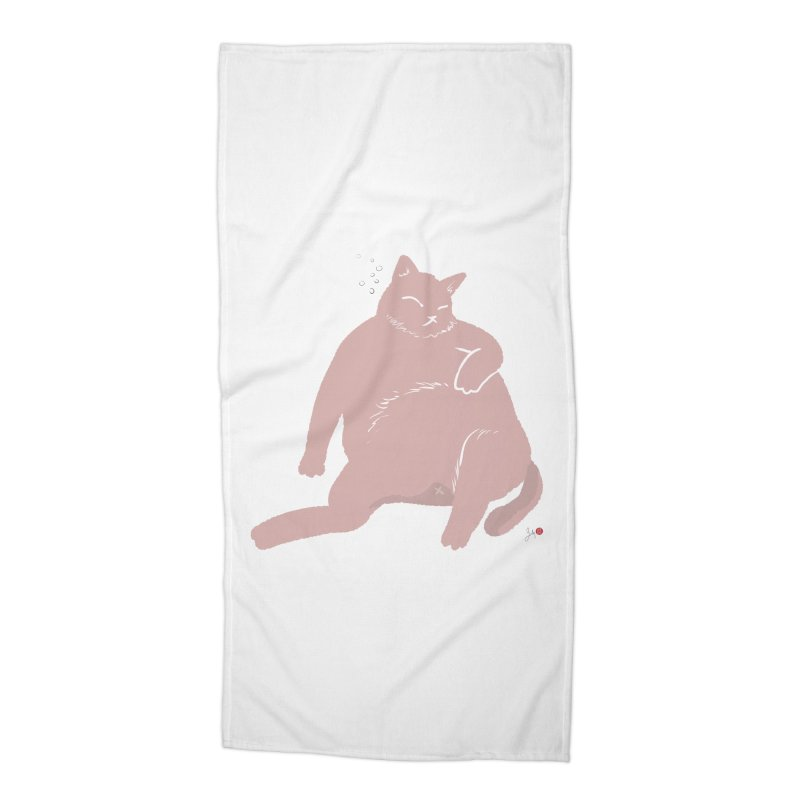 Fat Cat Accessories Beach Towel by Designs by Billy Wan