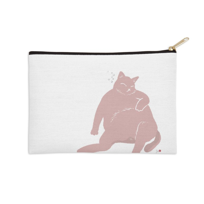 Fat Cat Accessories Zip Pouch by Designs by Billy Wan