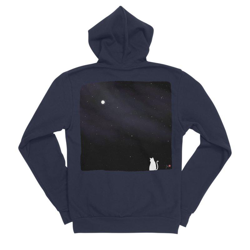 Star in the Night Sky Men's Sponge Fleece Zip-Up Hoody by Designs by Billy Wan