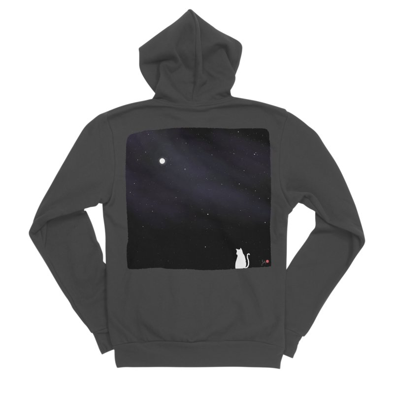Star in the Night Sky Women's Sponge Fleece Zip-Up Hoody by Designs by Billy Wan