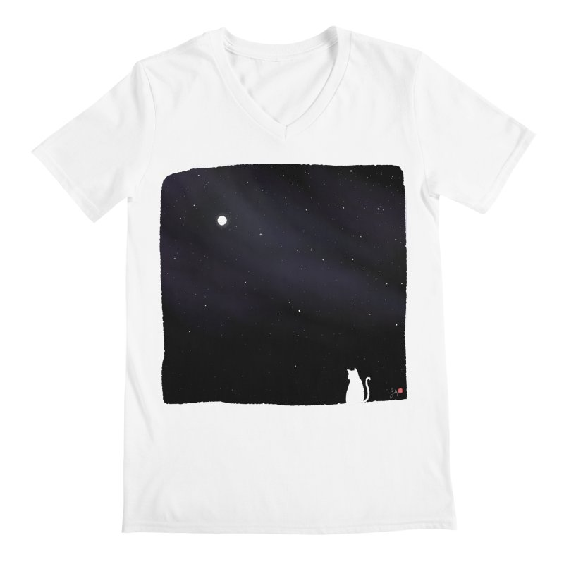 Star in the Night Sky Men's V-Neck by Designs by Billy Wan