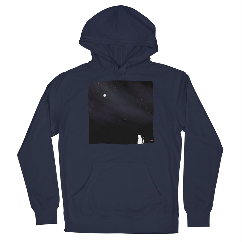 Star in the Night Sky Men's French Terry Pullover Hoody by Designs by Billy Wan