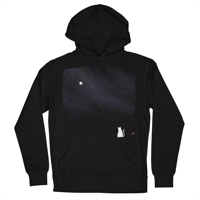 Star in the Night Sky Women's French Terry Pullover Hoody by Designs by Billy Wan