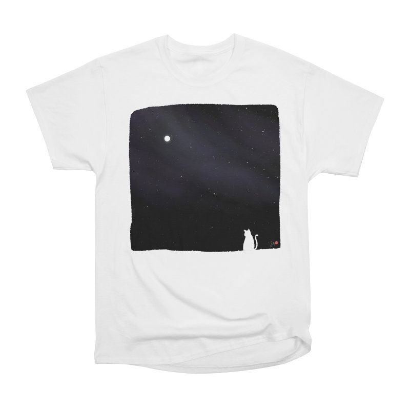 Star in the Night Sky Women's Heavyweight Unisex T-Shirt by Designs by Billy Wan