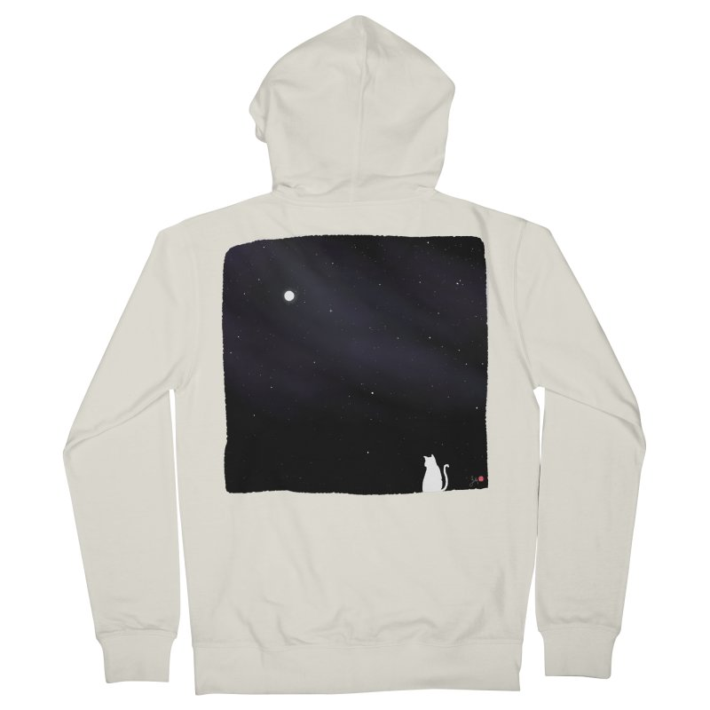 Star in the Night Sky Men's French Terry Zip-Up Hoody by Designs by Billy Wan