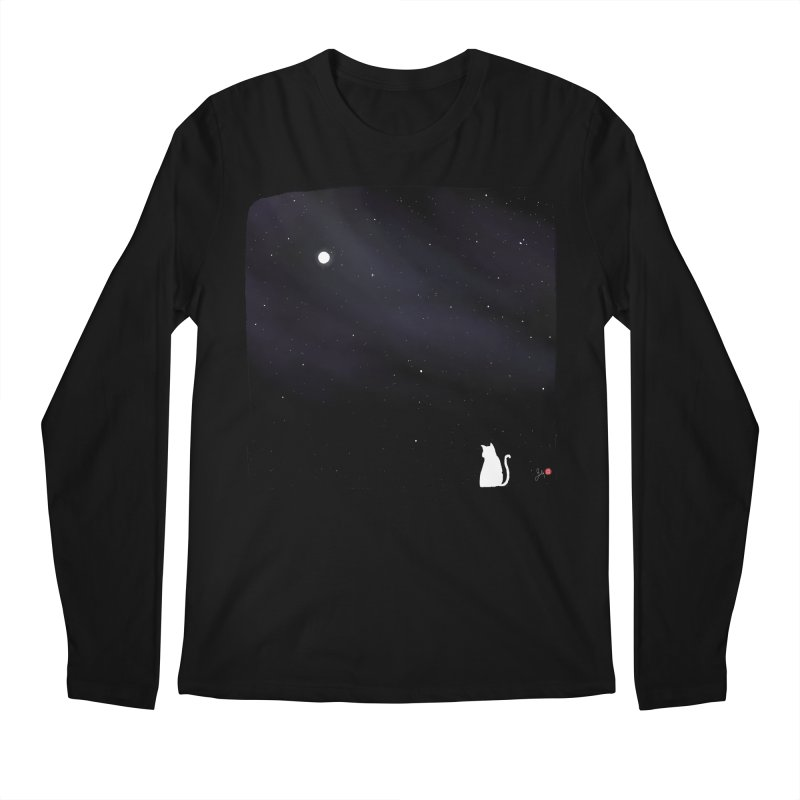 Star in the Night Sky Men's Regular Longsleeve T-Shirt by Designs by Billy Wan