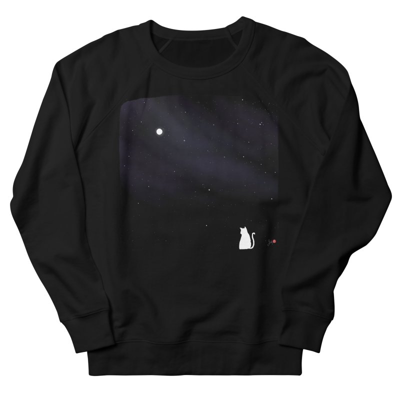 Star in the Night Sky Women's French Terry Sweatshirt by Designs by Billy Wan