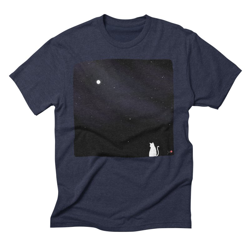 Star in the Night Sky Men's Triblend T-Shirt by Designs by Billy Wan