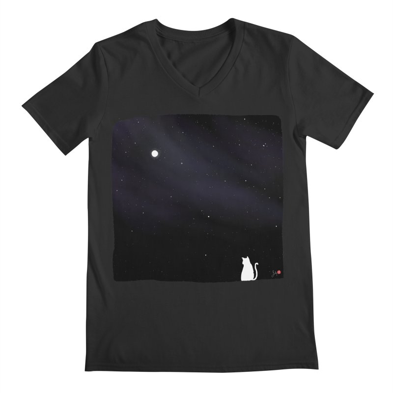 Star in the Night Sky Men's Regular V-Neck by Designs by Billy Wan