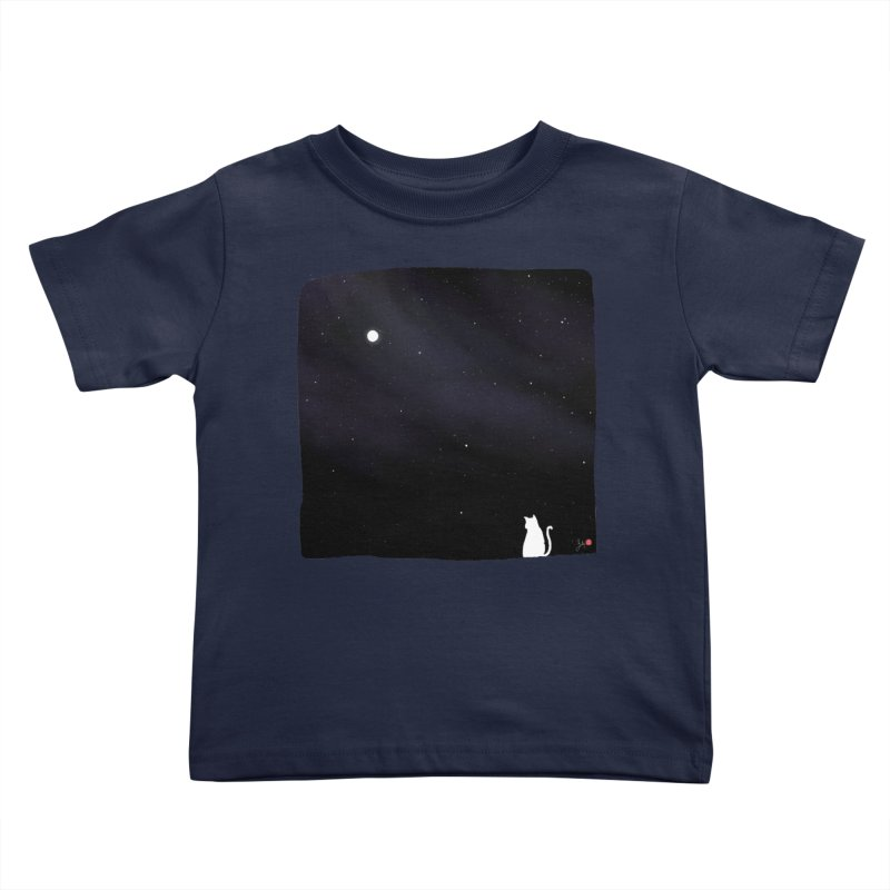 Star in the Night Sky Kids Toddler T-Shirt by Designs by Billy Wan