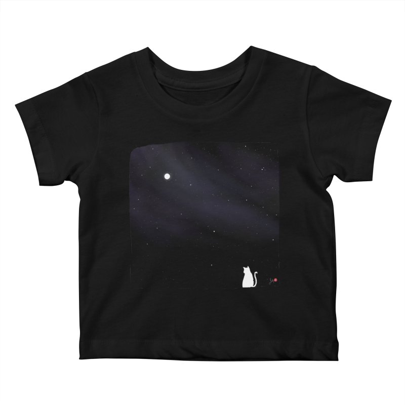 Star in the Night Sky Kids Baby T-Shirt by Designs by Billy Wan