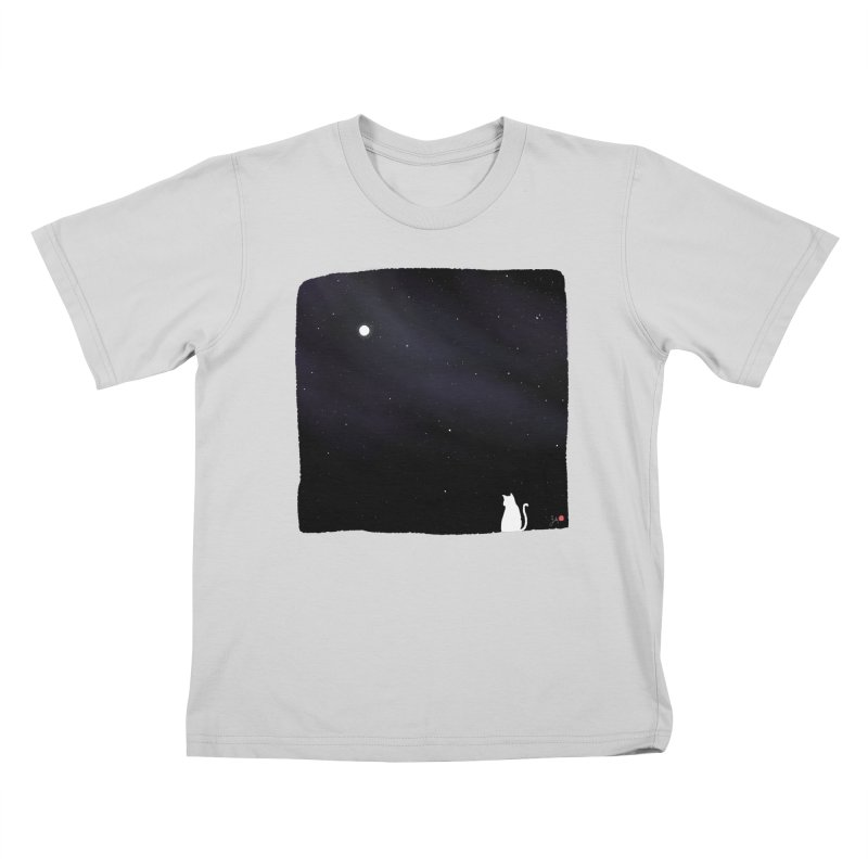 Star in the Night Sky Kids T-Shirt by Designs by Billy Wan