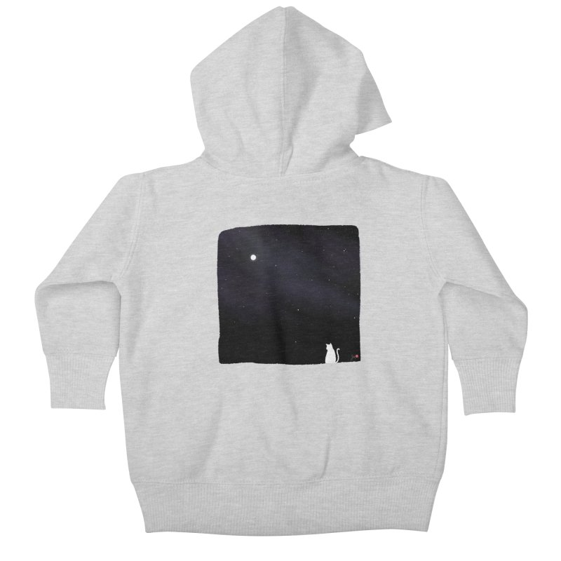 Star in the Night Sky Kids Baby Zip-Up Hoody by Designs by Billy Wan