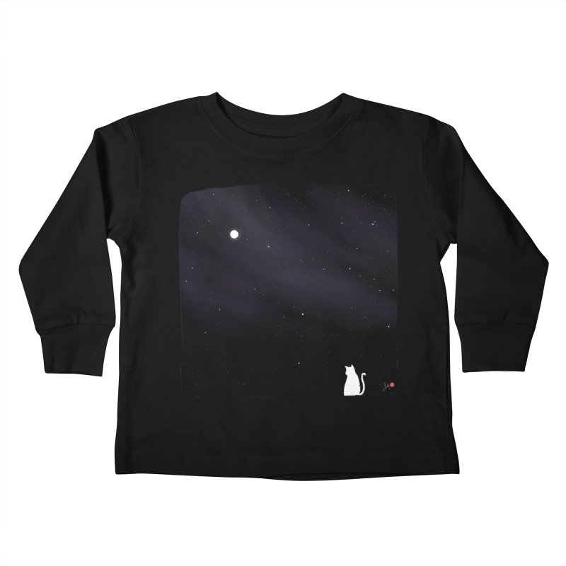 Star in the Night Sky Kids Toddler Longsleeve T-Shirt by Designs by Billy Wan