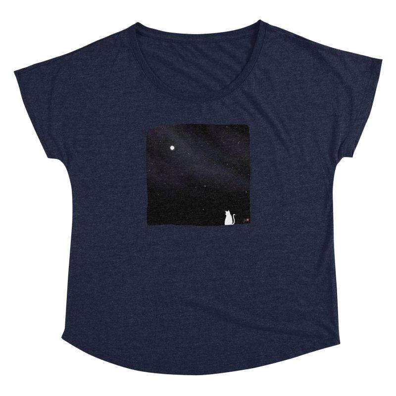 Star in the Night Sky Women's Dolman Scoop Neck by Designs by Billy Wan