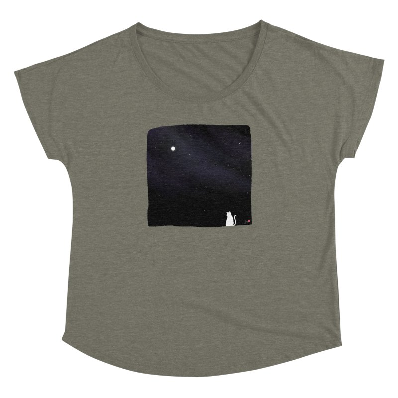 Star in the Night Sky Women's Dolman Scoop Neck by Designs by Billy Wan
