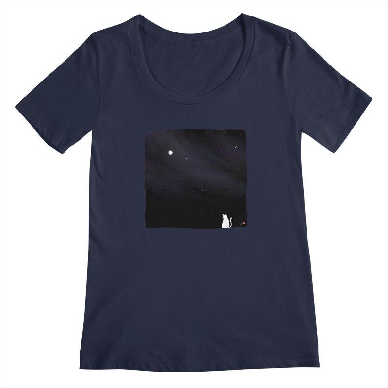 Star in the Night Sky Women's Regular Scoop Neck by Designs by Billy Wan
