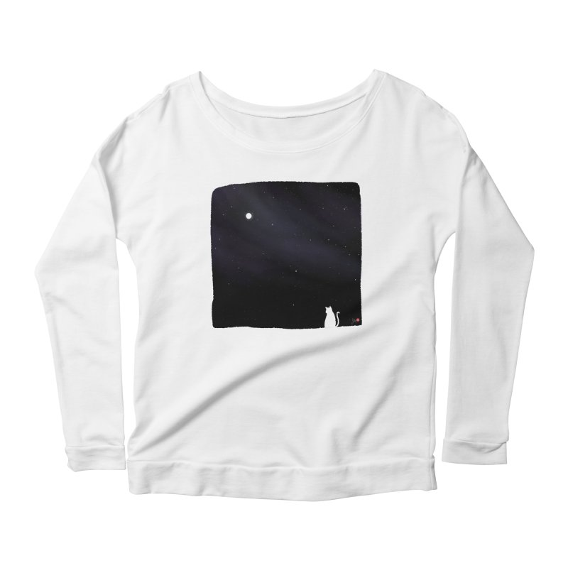 Star in the Night Sky Women's Scoop Neck Longsleeve T-Shirt by Designs by Billy Wan