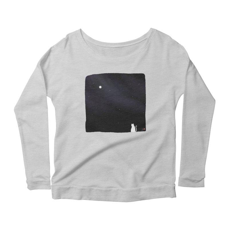 Star in the Night Sky Women's Scoop Neck Longsleeve T-Shirt by Designs by Billy Wan