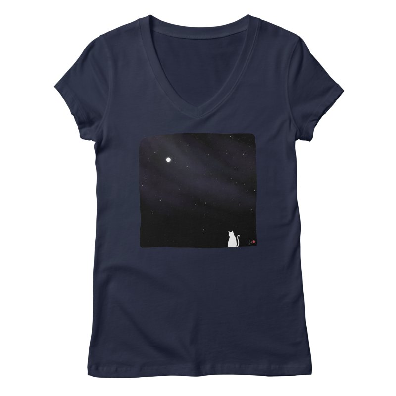 Star in the Night Sky Women's Regular V-Neck by Designs by Billy Wan
