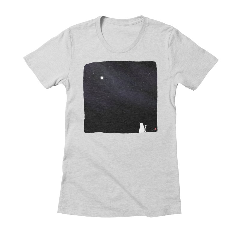 Star in the Night Sky Women's Fitted T-Shirt by Designs by Billy Wan