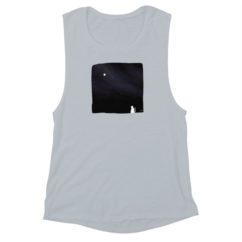 Star in the Night Sky Women's Muscle Tank by Designs by Billy Wan
