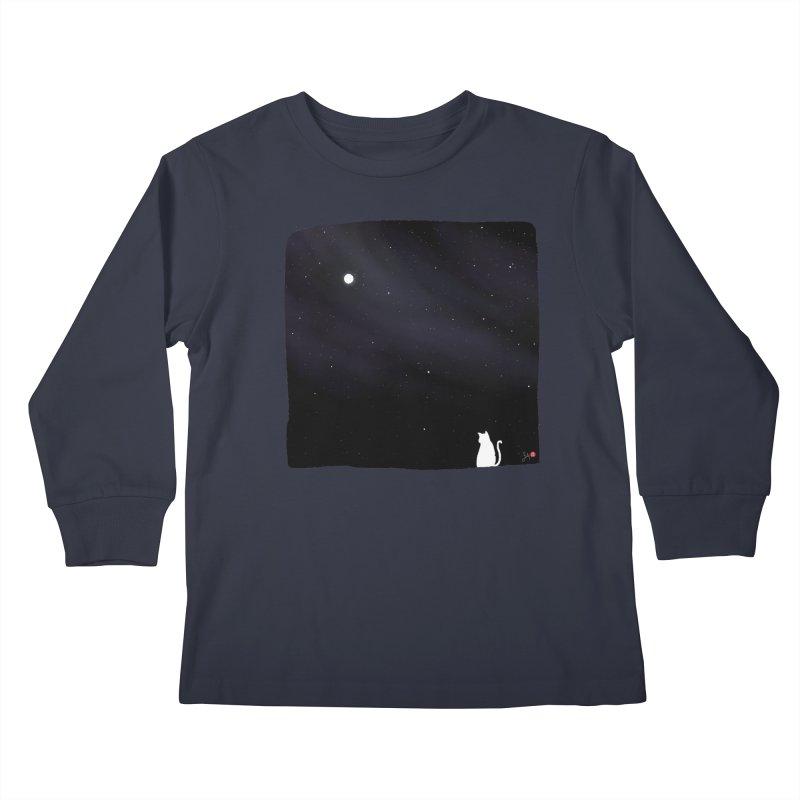 Star in the Night Sky Kids Longsleeve T-Shirt by Designs by Billy Wan