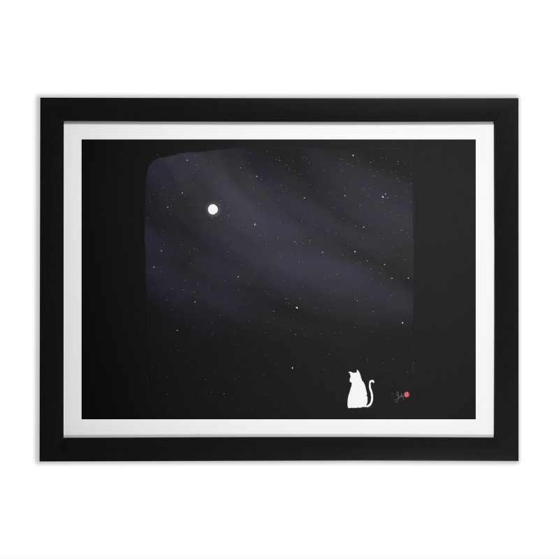 Star in the Night Sky Home Framed Fine Art Print by Designs by Billy Wan