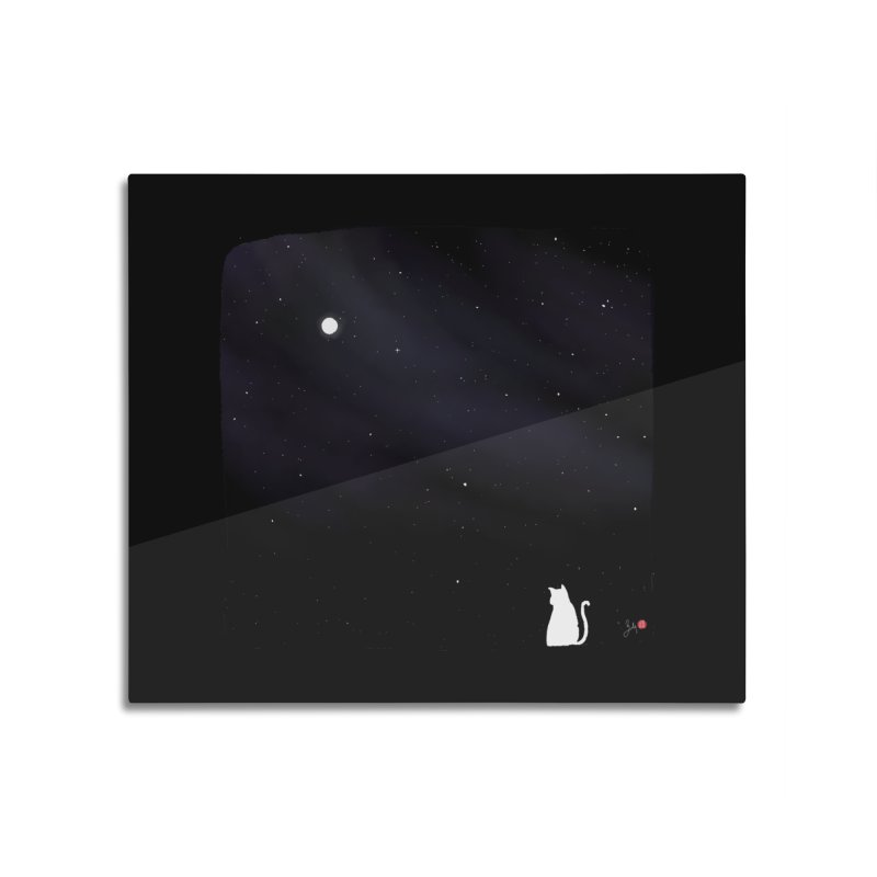Star in the Night Sky Home Mounted Aluminum Print by Designs by Billy Wan