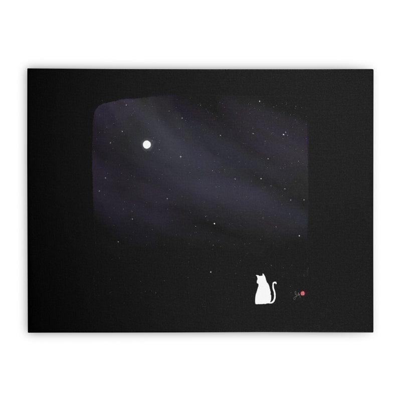 Star in the Night Sky Home Stretched Canvas by Designs by Billy Wan