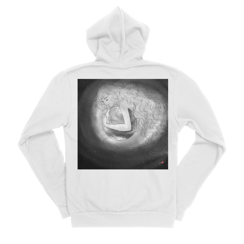 The World is Precious Women's Sponge Fleece Zip-Up Hoody by Designs by Billy Wan