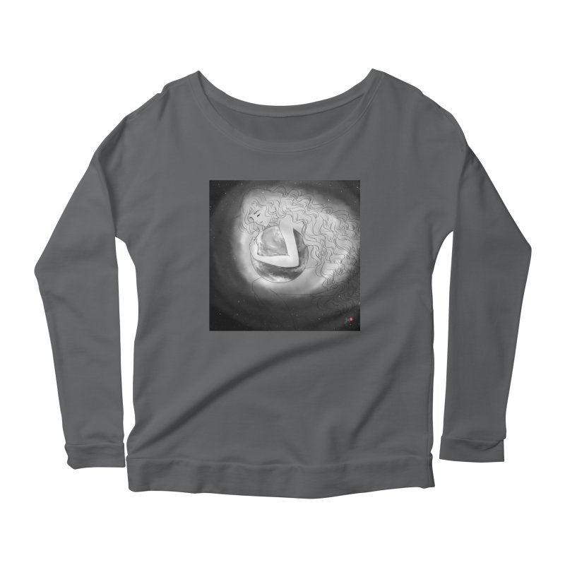 The World is Precious Women's Scoop Neck Longsleeve T-Shirt by Designs by Billy Wan