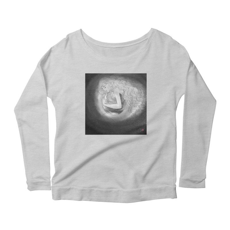 The World is Precious Women's Scoop Neck Longsleeve T-Shirt by Designs by Billy Wan