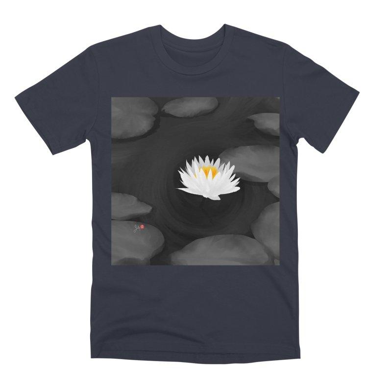 Lotus Men's Premium T-Shirt by Designs by Billy Wan