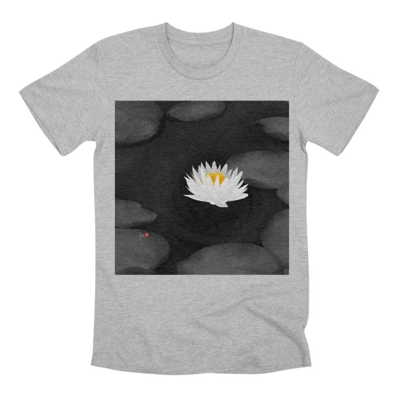 Lotus Men's Premium T-Shirt by Designs by Billy Wan