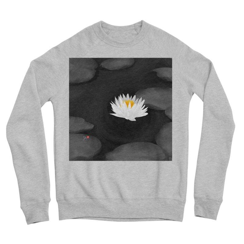 Lotus Men's Sponge Fleece Sweatshirt by Designs by Billy Wan