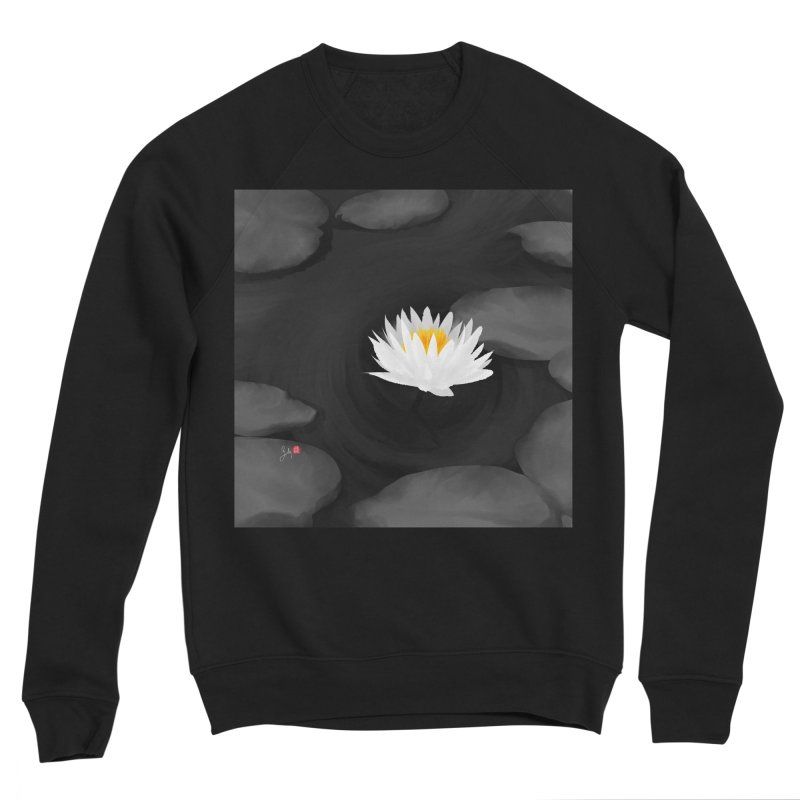 Lotus Men's Sponge Fleece Sweatshirt by Designs by Billy Wan