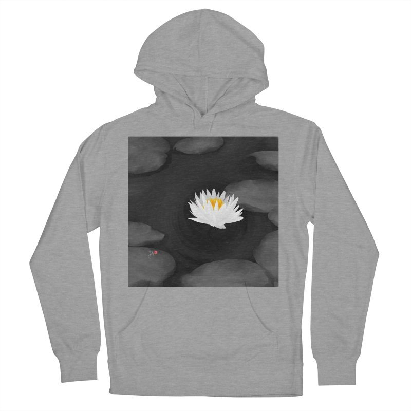 Lotus Women's French Terry Pullover Hoody by Designs by Billy Wan