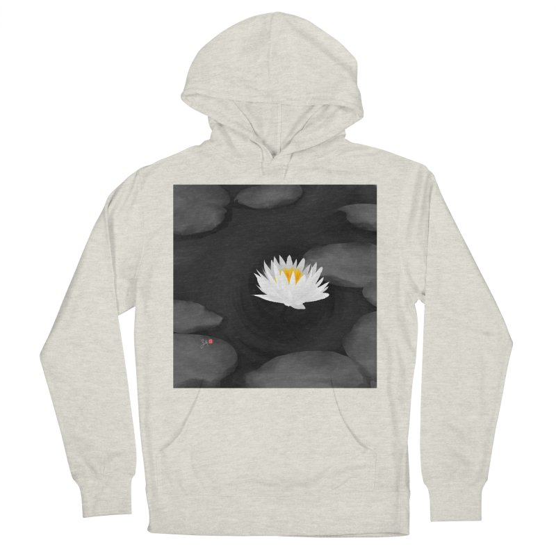 Lotus Men's French Terry Pullover Hoody by Designs by Billy Wan