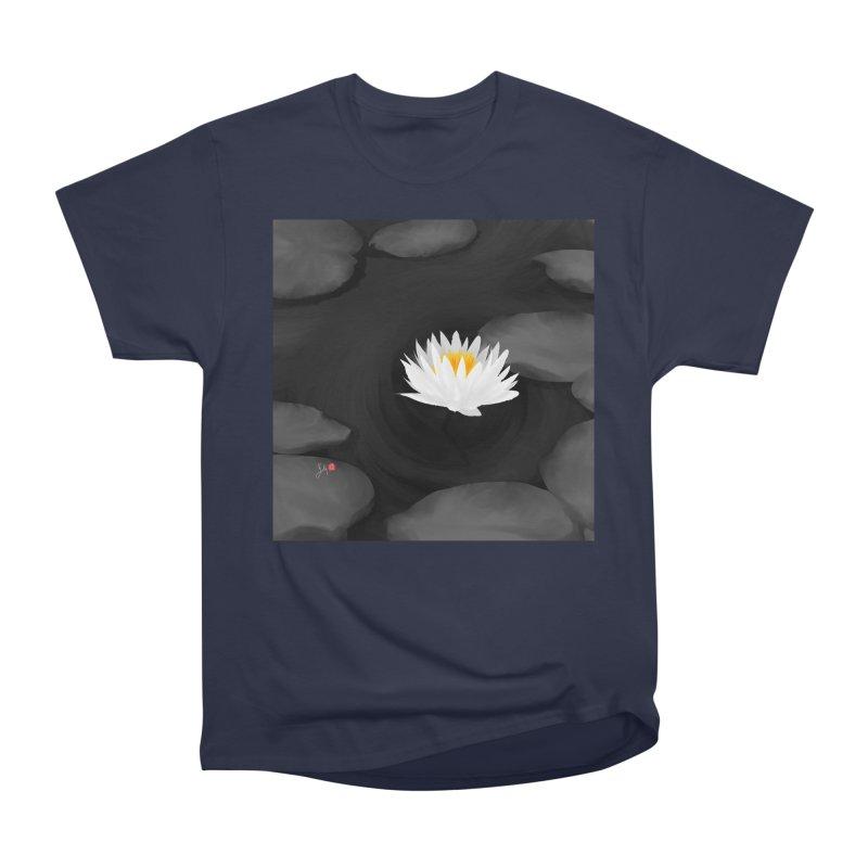 Lotus Men's Heavyweight T-Shirt by Designs by Billy Wan