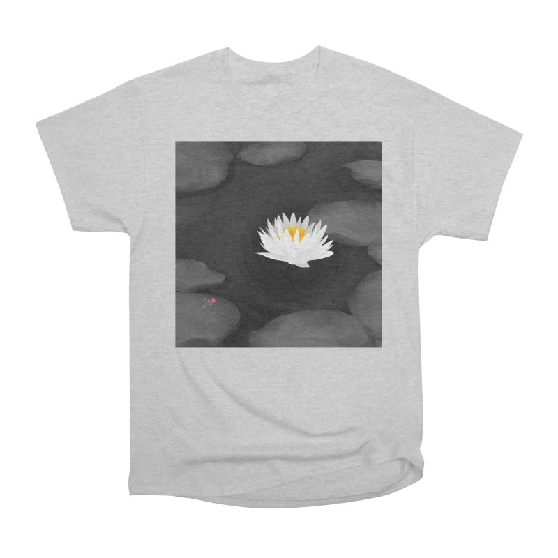 Lotus Men's Heavyweight T-Shirt by Designs by Billy Wan