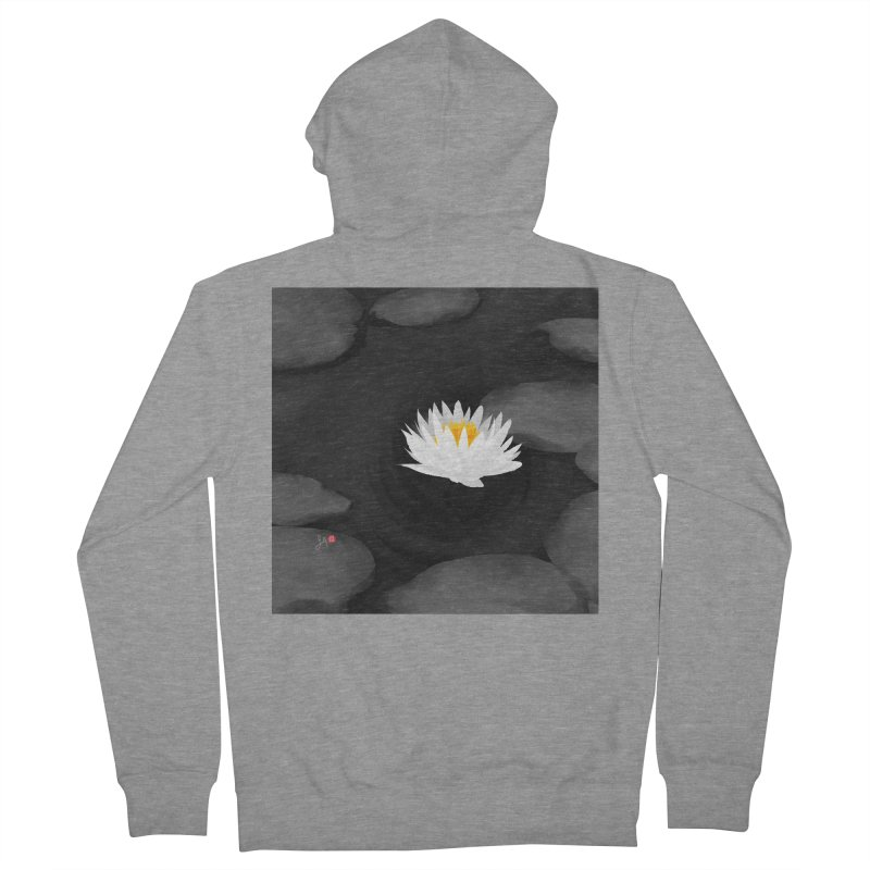 Lotus Women's French Terry Zip-Up Hoody by Designs by Billy Wan